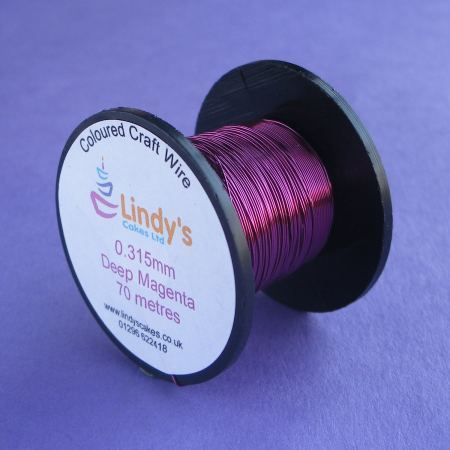 Purple - Magenta Coloured Copper Craft Wire (0.315mm) SKU176641721111111111111