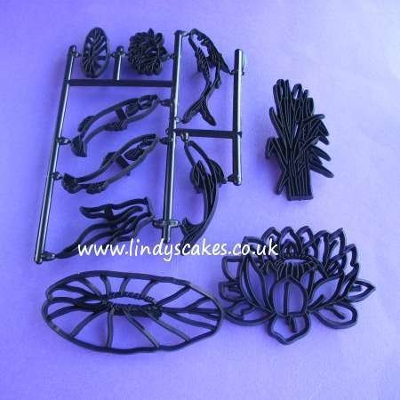 Water Lily and Fish Cutter and Embossing Set (Patchwork Cutters)