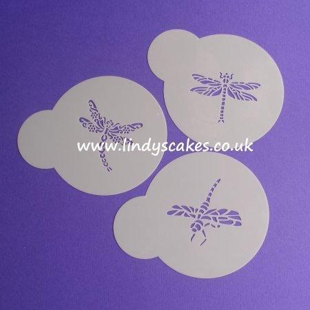 Dragonfly Stencils - Set of 3 Mini (LC115)