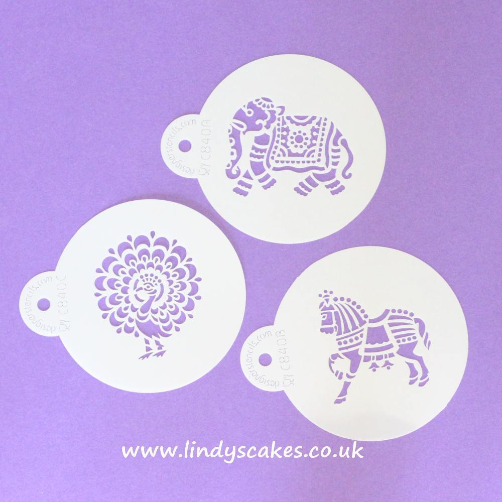 Indian Animal Stencils (C840) SKU00006