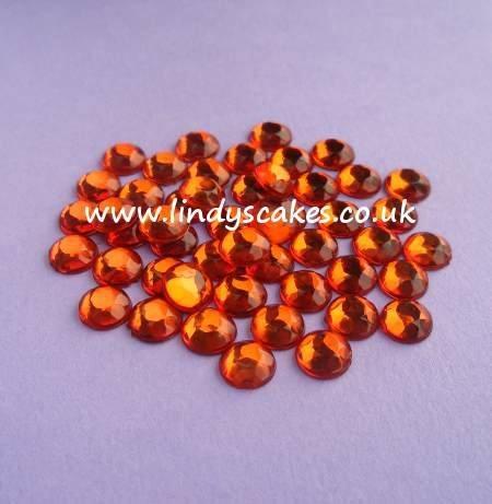 Orange Stick-on-Stones (7mm) SKU182131