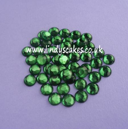 Green Stick-on-Stones (7mm) SKU182137
