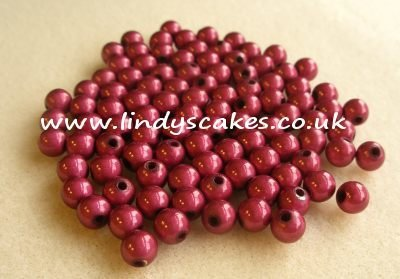 Pink - Cerise Pink Miracle Beads (6mm) SKU17621