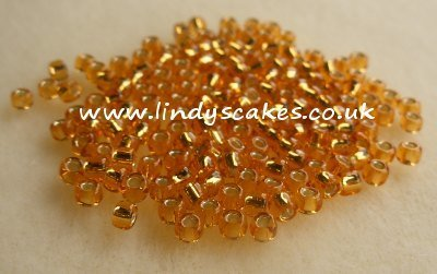 Gold Japanese Silver Lined Rocailles SKU1767813