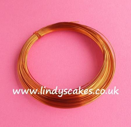 Gold- Antique Gold Coloured Craft Wire (0.5mm) SKU18256