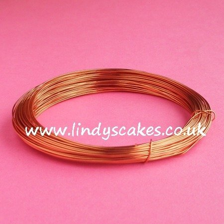 Gold - Warm Gold Coloured Craft Wire (0.5mm) SKU182561