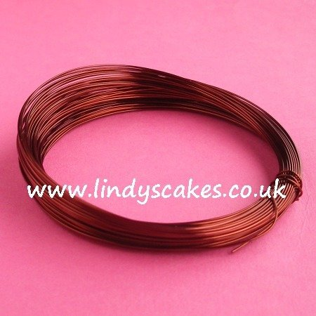 Brown Coloured Craft Wire (0.5mm) SKU18256111111