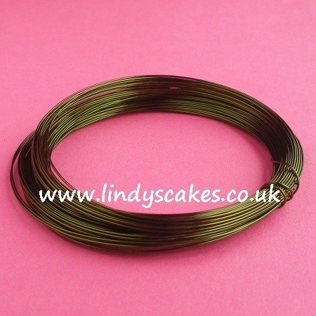 Green - Leaf Green Coloured Craft Wire (0.5mm) SKU182561111111111111111113