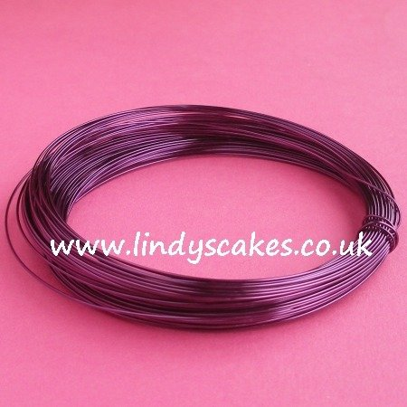 Purple - Dark Purple Coloured Craft Wire (0.5mm) SKU18256111112147483648