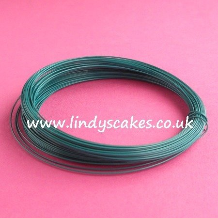 Green - Opaque Green Coloured Craft Wire (0.5mm) SKU18256111111111111111111
