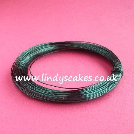 Green - Bottle Green Coloured Craft Wire (0.5mm) SKU2147483650