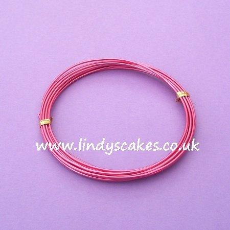 Pink - Raspberry Pink Aluminium Wire (1.5mm weight / 3m long) SKU182881111