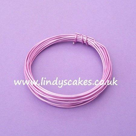 Pink - Rose Pink Aluminium Wire (1.5mm weight / 3m long) SKU1828811111
