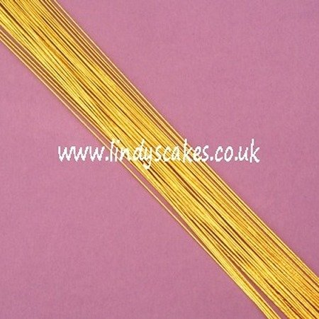 Gold Floristry Wire (24g) SKU18322