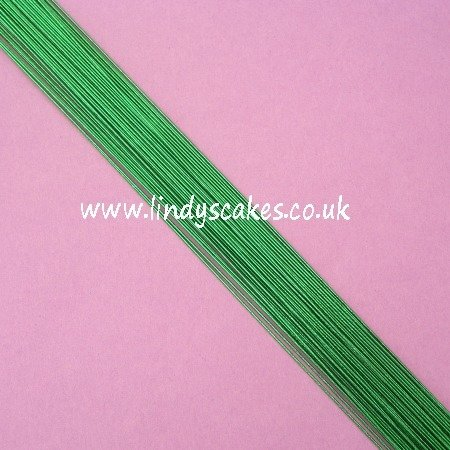 Green - Metallic Green Floristry Wire (24g) SKU1832211211