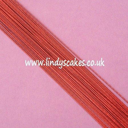 Purple - Metallic Burgundy Floristry Wire (24g) SKU18322112111
