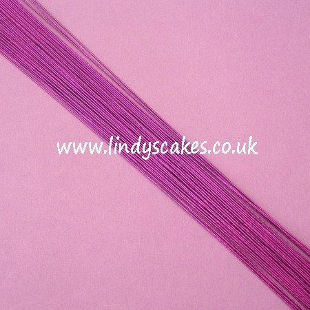 Purple - Metallic Purple Floristry Wire (24g) SKU18322112111111
