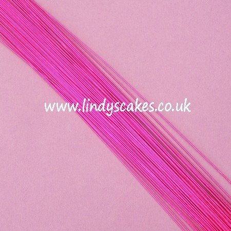 Pink- Metallic Fuchsia Pink Floristry Wire (24g) SKU18322112111113111