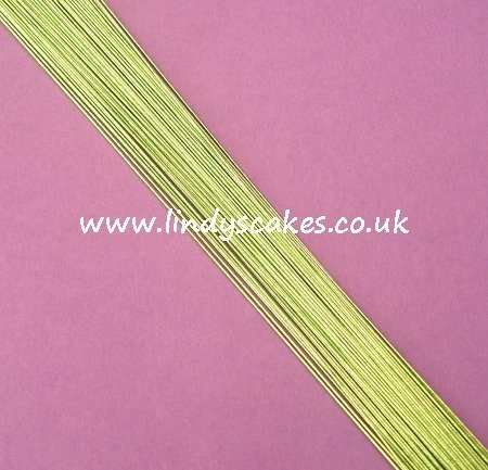 Green - Metallic Light Green Floristry Wire (24g) SKU1832211211111311111
