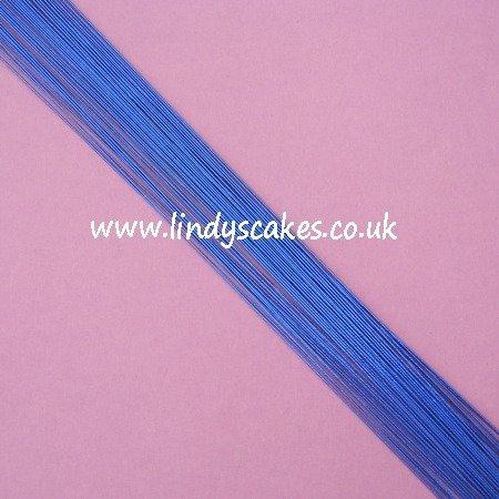 Blue - Metallic Blue Floristry Wire (24g) SKU1832211211111333
