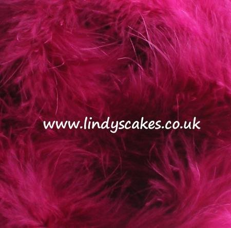 Pink - Cerise Marabou Feather Trimmings (2m) SKU182041