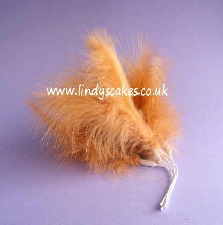 Golden Brown Wired Fluff Feathers SKU182082