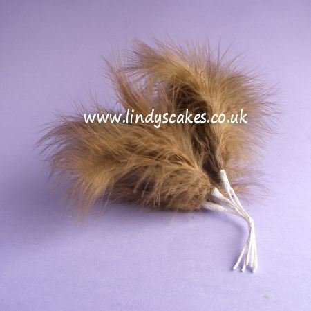 Brown Wired Fluff Feathers SKU1820821