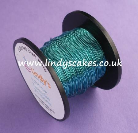 Blue - Turquoise Coloured Copper Craft Wire (0.315mm) SKU176641721111111111112