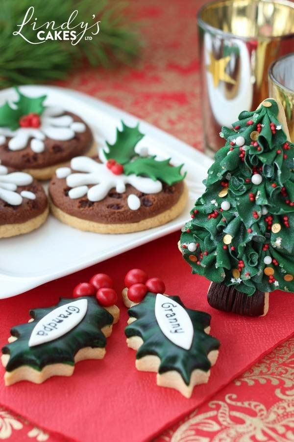 A selection of Christmas cookies crated by Lindy for the November 2017 issue of Cake Decoration and Sugarcraft magazine