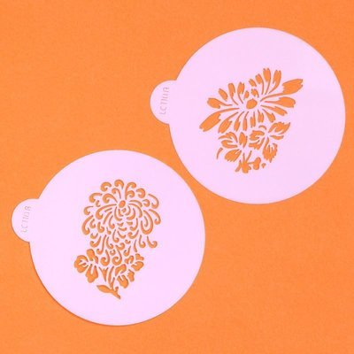 Stylised Flower Cupcake Top Stencil Set (LC110) - Lindy's