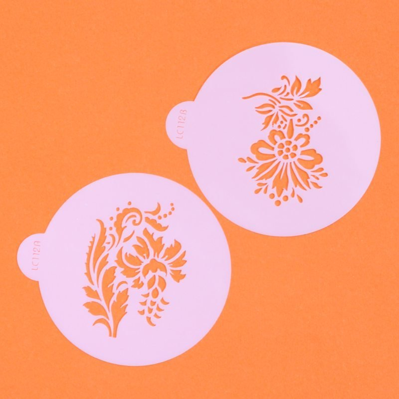 Elegant Flower Cupcake Top Stencils - Lindy's (LC112) SKU18040