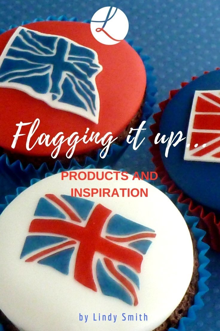 Union Jack Flag Stencils - Cupcake Sized (LC114) - Lindy's