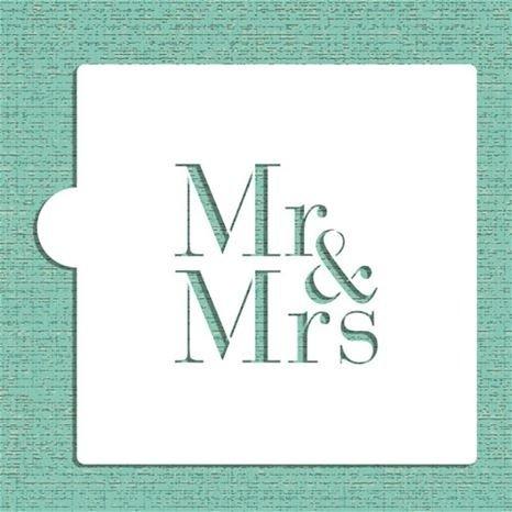 Mr & Mrs Cake Stencil - CM037 00023