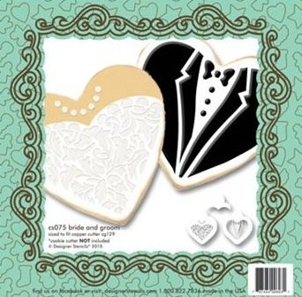 Bride & Groom Cookie Stencil Set CS075 00030