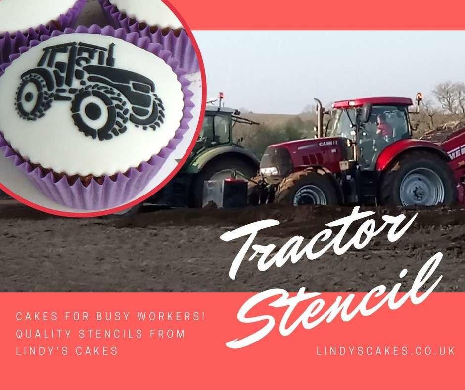 Tractor stencil for busy potato planters