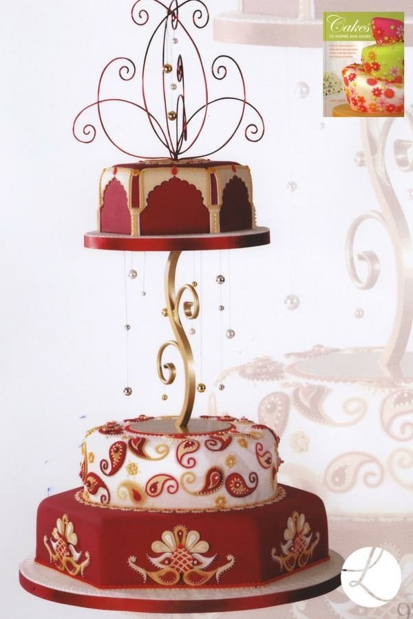 Eastern ornament  cake by Lindy Smith from her book 'Cakes to inspire and desire'