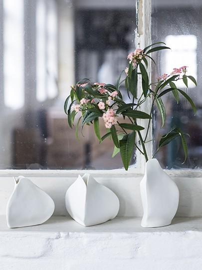 Porzellan Vase H10,5 / 13,5 cm • SERAX Handarbeit 56046