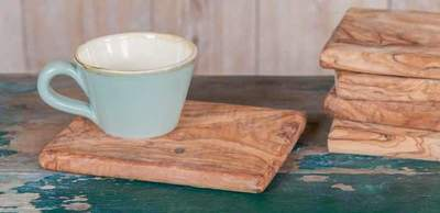 Olivenholz Brettchen • Frühstücksbrett geölt