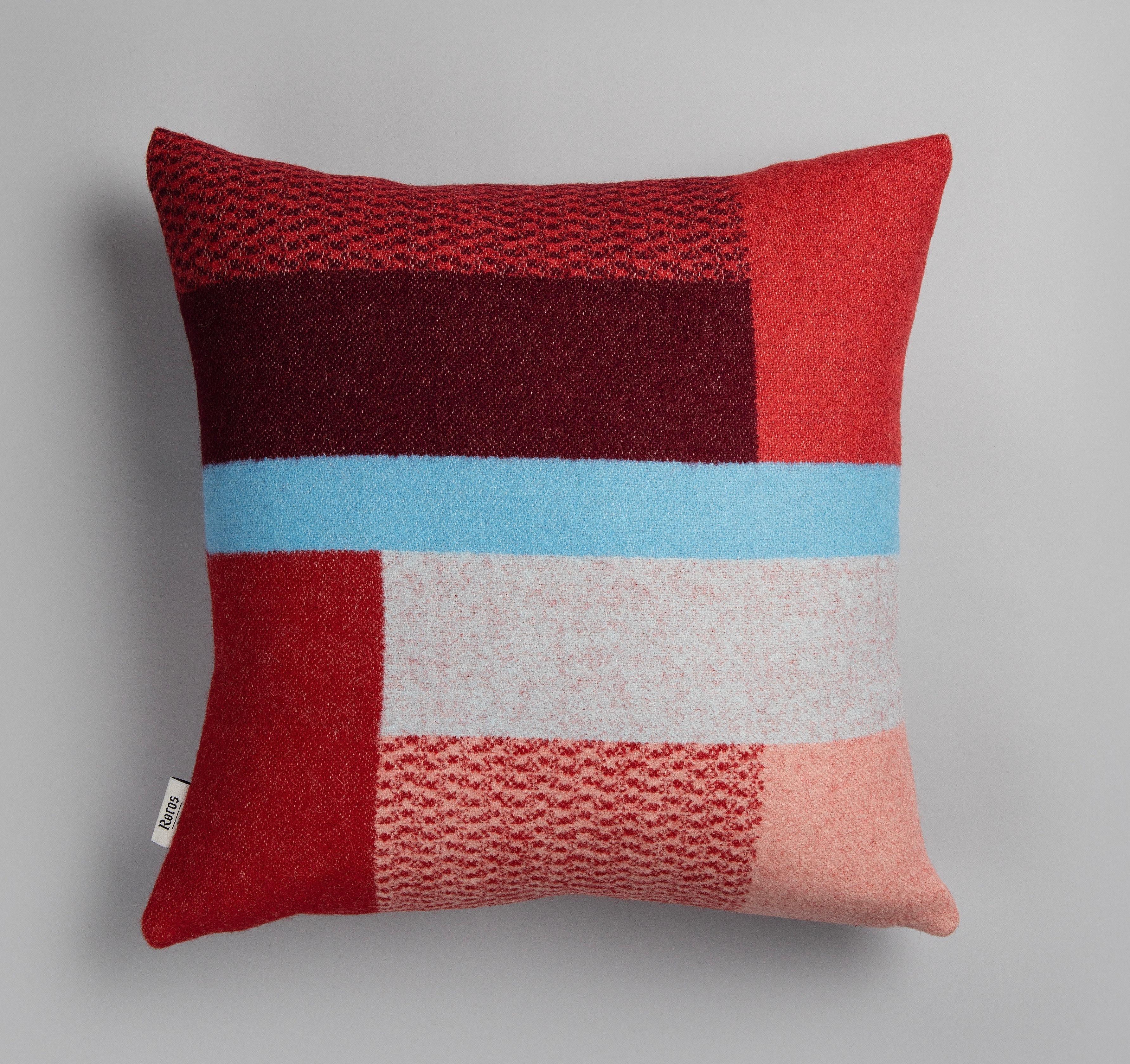 Norwegische Lammwoll Kissen Røros Tweed Mikkel 50x50cm 40074