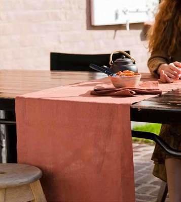 100% Leinen Tischläufer • Sets • Servietten der Serie Napoli