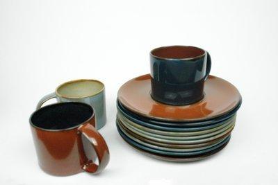 Unterteller für Kaffe Tee Espresso SERAX Steingut Terres de Rêves