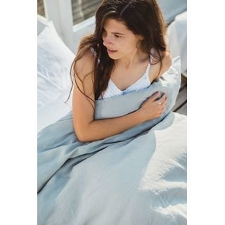 LIBECO Bettwäsche • Bettlaken Heritage 100% Öko-Leinen einfarbig