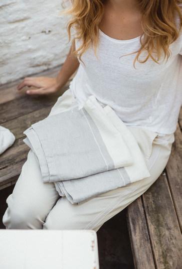 LIBECO Handtuch in 100% Leinen mehrfarbig