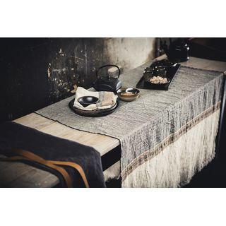 LIBECO Tischtuch 110 x 180 in 100% Leinen mehrfarbig 56030