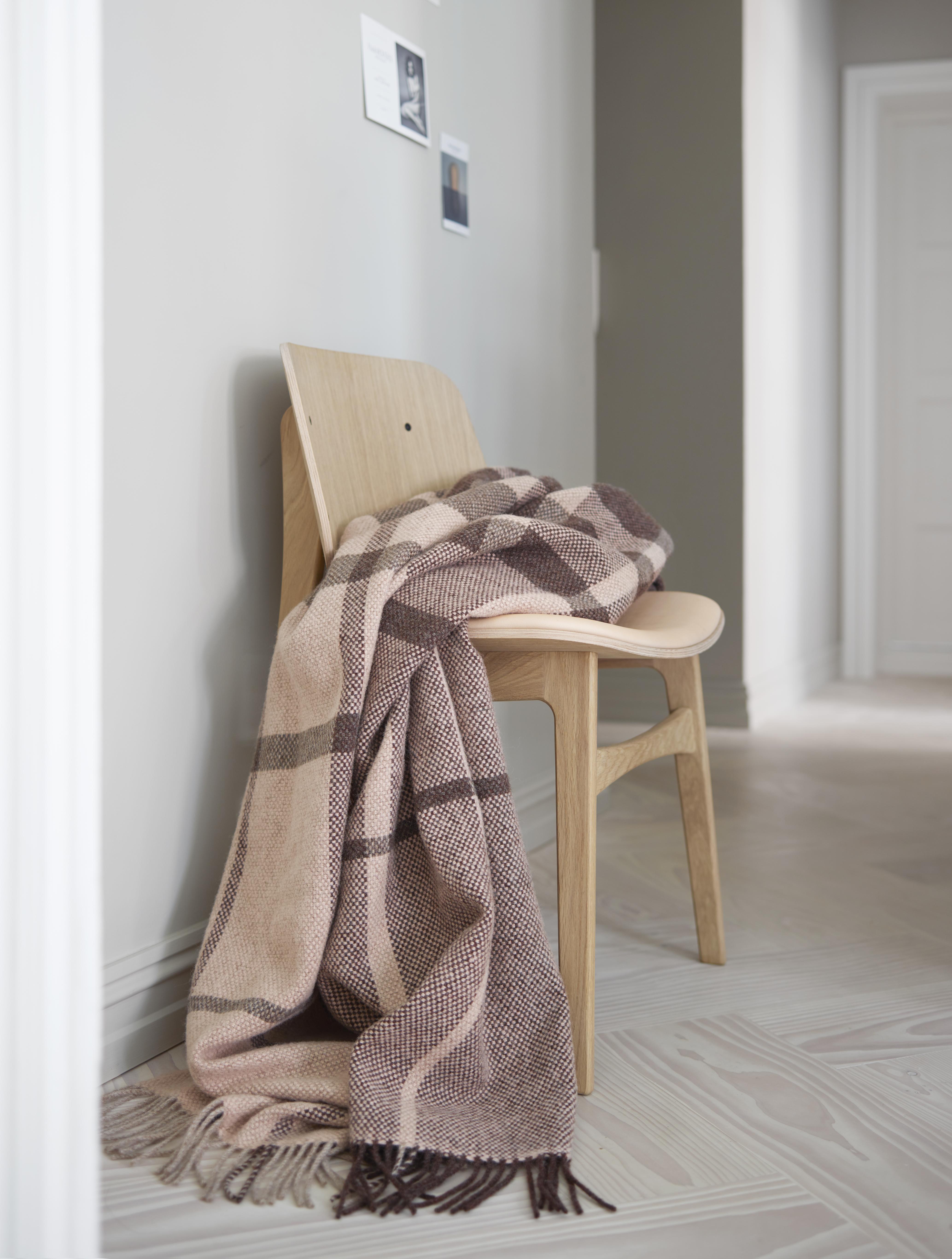 Norwegische Lammwoll Decke Røros Tweed Filos 145x220cm 56031
