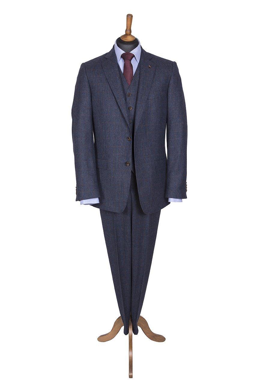 573dea64a8ed8e Magee Three Piece Navy Tweed Suit