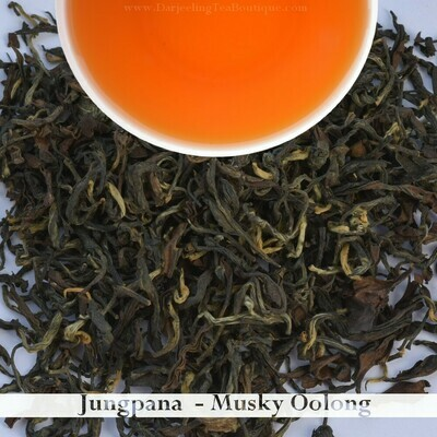 DELIGHTFUL MUSKY OOLONG FROM JUNGPANA  - Darjeeling 2nd Flush 2019  (100gm / 3.5oz)