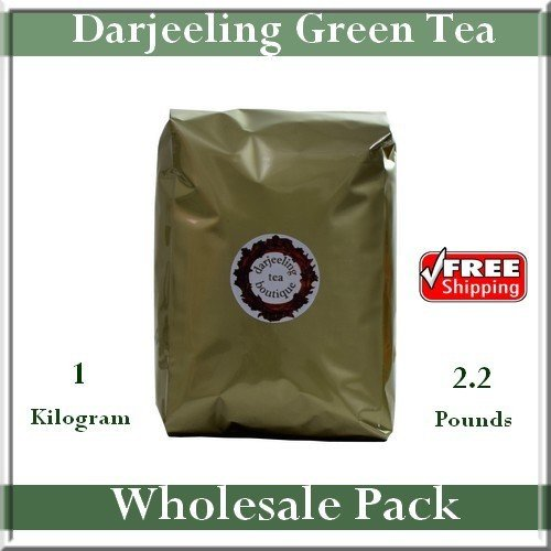 MONEY SAVER WHOLESALE PACK: Darjeeling Green Tea 1kg (2.2lb) Pack