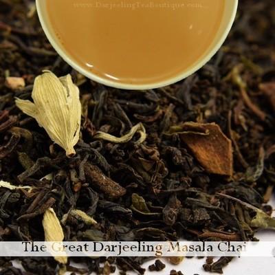 THE SCRUMPTIOUS - Darjeeling Masala Chai, 100gm (3.52oz) Pack