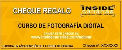 Cheque Regalo Curso de Fotografía digital